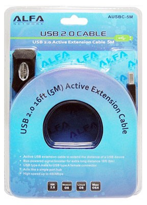Picture of ALFA Network AUSBC-5M Aktive USB 2.0 Extension Cable