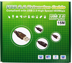 Picture of ALFA Network AUSBC-15M Active USB 2.0 Extension Cable