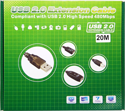 Picture of ALFA Network AUSBC-20M Active USB 2.0 Extension Cable