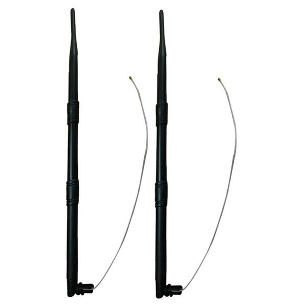 Picture of Set of two 2,4GHz 9dBi WiFi Omni Antenne with Housing Clip and IPEX